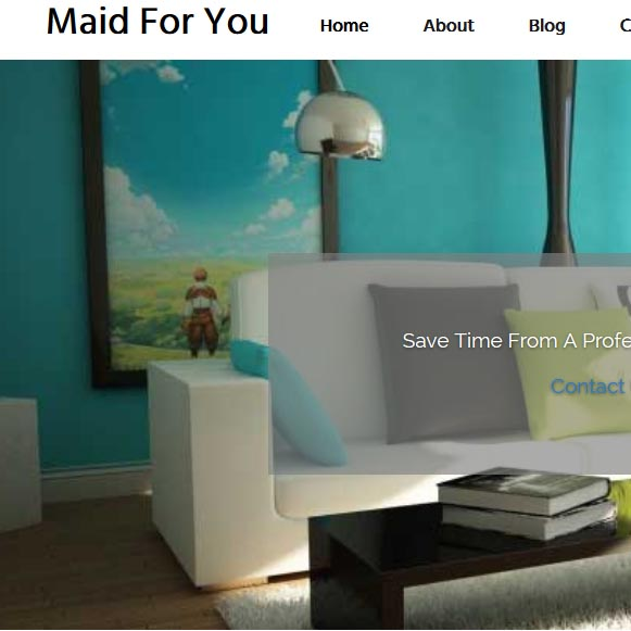 Maid for you cleaning website
